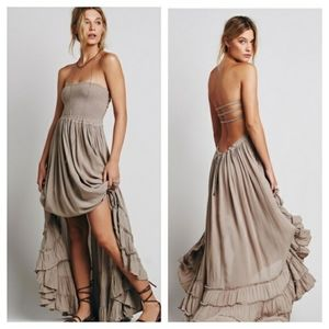 Free people Extratropical tan maxi dress